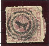 DENMARK 1863  16 Sk. Rouletted Used. Signed Møller BPP. Michel 10. - Used Stamps