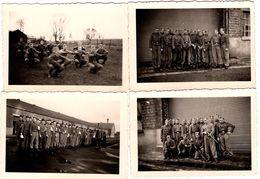 4 Photos Originales Guerre 1939/45 - Soldats Allemands à L' Entrainement Un 22.01.1944 - Légende Dos - Krieg, Militär