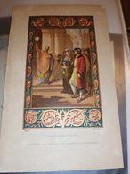 GRAVURE ANCIENNE COULEUR 14 X 21 CM TURIN ITALIE LA VILLE DU SAINT SACREMENT CIRCA 1880 - Estampas & Grabados