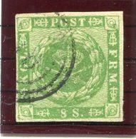 DENMARK 1858  8 Sk. With Wavy Lines, Used. Signed Møller BPP. Michel 8 - 1851-63 (Frederik VII)