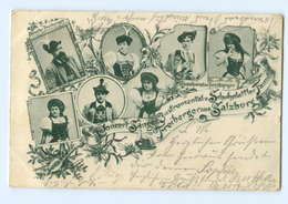 Y7113/ Sänger, Konzert- U. Schuhplattler Familie Freiberger Aus Salzburg AK 1899 - Oostenrijk