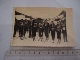 Photos Militaire Ski Les Coureurs De La S.E.S 1946 Lauersbach - Krieg, Militär