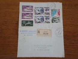 Recommandé Sur Carte Lettre En-tête A. BENOTEAU Géomètre Expert, De Luçon (85) à Belleville Sur Vie (85) - Lettres & Documents
