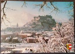 Ak Österreich - Salzburg - Festung Mit Untersberg Im Winter - Salzburg Stadt