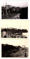 3 Photos Originales Guerre 1939/45 Ruines De Gare & Voies Ferrée, Wagon Transport De Troupes, Sabotage & Bombardement - Krieg, Militär