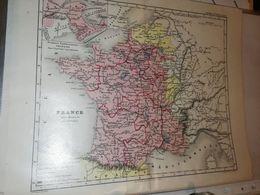 CARTE FRANCE SOUS HENRI IV DUFOUR GAUME ET CIE CIRCA 1860 21 X 27 CM - Cartes Géographiques