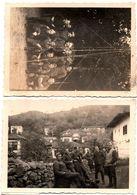 2 Photos Originales Guerre 1939/45 Soldats Des Transmissions Et Grande Antenne à Identifier Vers 1930/40 - Calots - Krieg, Militär