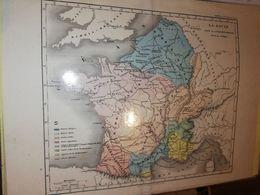 CARTE FRANCE LA GAULE AVANT LA CONQUETE ROMAINE GAUME ET CIE CIRCA 1860 21 X 27 CM - Cartes Géographiques