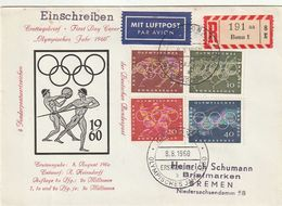 "Bundesrepublik Deutschland / 1960 / Mi. 332-335 ""Olympiade"" Reco-/Lupo-FDC (CB88) - Covers & Documents"