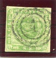 DENMARK 1857  8 Sk.with Good Even Margins, Used.  Michel 5.  Signed Møller BPP. - Gebraucht