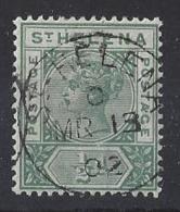 "ST.HELENA...QUEEN VICTORIA..(1837-01)..."" 1890."".....HALFd.......SG46.....CDS.....VFU... - Isola Di Sant'Elena"