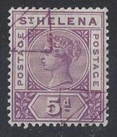 "ST.HELENA...QUEEN VICTORIA..(1837-01)..."" 1890."".....5d......SG51......REMAINDED.......VFU... - Isola Di Sant'Elena"