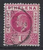 "ST.HELENA.....KING EDWARD VII.(1901-10.)..."" 1902..""....1d.....SG54.......CDS.....VFU... - Isola Di Sant'Elena"