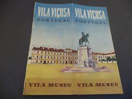 PANFLETO TURISTICO VILA VIÇOSA - PORTUGAL - VILA MUSEU - Folletos Turísticos
