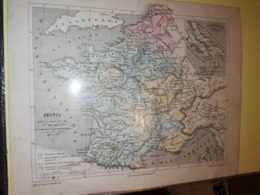 CARTE FRANCE SOUS LOUIS XI VUILLEMIN  GEORGE  CIRCA 1860 18 X 22 CM - Cartes Géographiques