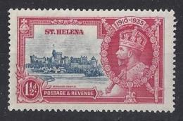 "ST. HELENA.....KING  GEORGE V.(1910-36.).....""..OMNIBUS..""......1 AND HALFd.....SG124.....SILVER JUBILEE.......MH. - Isola Di Sant'Elena"