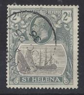 ST. HELENA.....KING  GEORGE V.(1910-36.)......BADGE ISSUE.....2d.....SG100.......CDS...VFU... - Isola Di Sant'Elena
