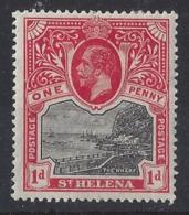 """ST. HELENA.....KING  GEORGE V.(1910-36.)....."""" 1912.."""".......1d.....SG73.......MH. - Isola Di Sant'Elena"""