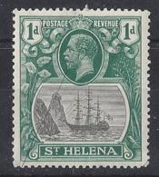 """ST. HELENA.....KING  GEORGE V.(1910-36.)....."""" 1922.."""".......1d.....SG98.......MH. - Isola Di Sant'Elena"""