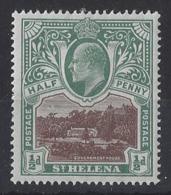"ST.HELENA.....KING EDWARD VII.(1901-10.)..."" 1903..""....HALFd.....SG55.....MH. - Isola Di Sant'Elena"