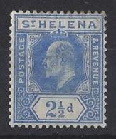 "ST.HELENA.....KING EDWARD VII.(1901-10.)..."" 1908..""....2 AND HALFd.........SG64............MH. - Isola Di Sant'Elena"