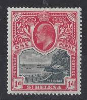 "ST.HELENA...KING EDWARD VII.(1901-10.)..."" 1903..""...1d .......SG56.....MH... - Isola Di Sant'Elena"