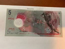 Maldives 5 Rufiyaa Uncirc. Polymer Banknote 2017 #2 - Maldives