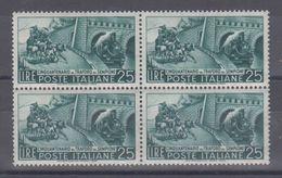 Italia Repubblica 1956 Cinquantenario Traforo Del Sempione Quartina   Mnh - 1946-60: Mint/hinged