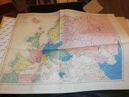 CARTE DE L EUROPE  DUFOUR  1877 40 X 48 CM - Cartes Géographiques