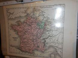 CARTE FRANCE FRANCE SOUS LOUIS XIV PAR DUFOUR 27 X 21 CM CIRCA 1860 - Cartes Géographiques