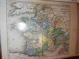 CARTE FRANCE ET ITALIE SEPTENTRIONALE EN 1789 PAR DUFOUR 27 X 21 CM CIRCA 1870 - Cartes Géographiques
