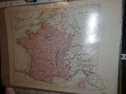 CARTE FRANCE EN 1815 PAR DUFOUR 27 X 21 CM CIRCA 1870 - Cartes Géographiques