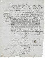 Acte Du 29 Ventôse An VI Concernant Succession De Jeanne Louise Davignou Empreinte Timbre Dimension 25 C - Fiscali