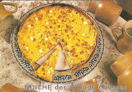 CPM - RECETTE DE CUISINE MARIA GRIMAL GASTRONOMIE - QUICHE DES GRANDS CAUSSES - Ricette Di Cucina