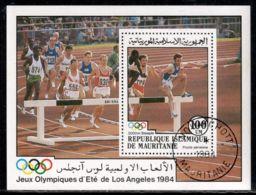 Mauritania 1984 Mi# Block 58 Used - Summer Olympics, Los Angeles / Steeplechase - Mauritania (1960-...)