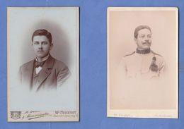 2 Fotos Um 1914, Soldat + Junger Mann, Format Ca. 10 X 6,5 Cm,  (1 Foto Auf Rückseite Beschädigt) - Krieg, Militär