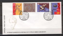Cyprus 1995 (Vl 689-692) Health Matters FDC - Other