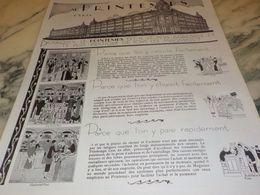 ANCIENNE PUBLICITE AGREABLE ET PRATIQUE  AU MAGASIN  PRINTEMPS 1925 - Vintage Clothes & Linen