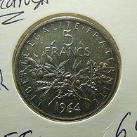 France 5 Francs 1964 Silver - J. 5 Francs