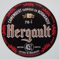Etiquette Camembert - Hergault Noir - Fromagerie Hergault à Moulineaux 76-I Normandie - Seine-Maritime   A Voir ! - Cheese