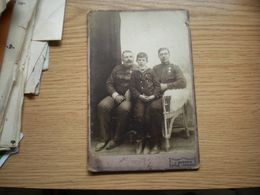 Old Cardboard J Berner Gruz Gravosa Soldiers Kabinet Portrait - Krieg, Militär