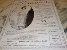 ANCIENNE PUBLICITE FLEURS DE CORAIL DE CLAVERIE 1925 - Posters