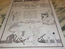 ANCIENNE PUBLICITE MAGASIN BELLE JARDINIERE 1925 - Non Classificati