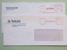 Industria, Siderurgia, Teksid (DZ) 2 Affrancature Meccaniche Diverse,2 Tariffe (300, 170), Ema, Meter, Freistempel - Machine Stamps (ATM)