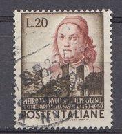 Italie 1951  Mi.Nr: 841 Geburtstag Von Pietro Di Cristoforo Vannucci   Oblitèré / Used / Gebruikt - 6. 1946-.. Republic