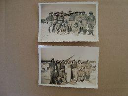 LOT DE 2 PHOTOS MILITAIRES BASE AERIENNE DE FES - Krieg, Militär