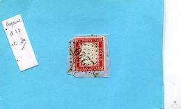 ITALIE-Royaume-N°13- 40c RougeV Emmanuel II-oblitéré  Arrivée 2240 Marseille- Départ Cachet Italien - 1861-78 Vittorio Emanuele II