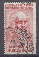 Italie 1952  Mi.Nr: 878  Geburtstag Von Leonardo Da Vinci   Oblitèré / Used / Gebruikt - 6. 1946-.. Republic
