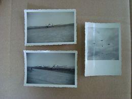 LOT DE 3 PHOTOS  BASE AERIENNE DE FES - Krieg, Militär