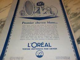 ANCIENNE PUBLICITE PREMIER CHEVEU BLANC  L OREAL 1925 - Perfume & Beauty
